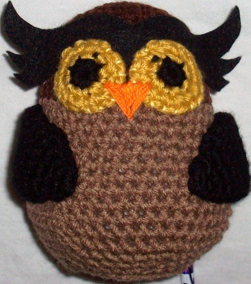 Amigurumi Owl finished product