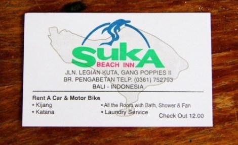 Coordonnées du Suka Beach Inn, Kuta, Bali