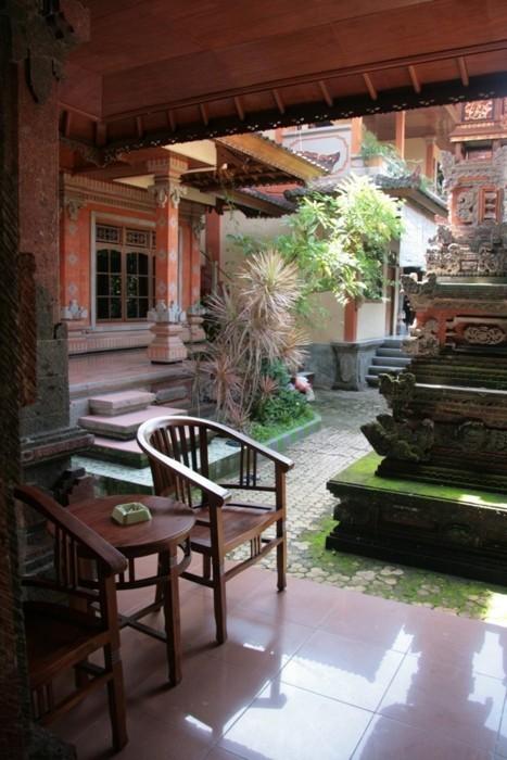 Ma terrasse au Suka Beach Inn, Kuta, Bali