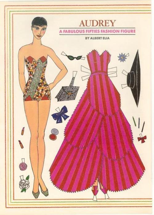 Audrey Hepburn paper doll  connoisseur vintage