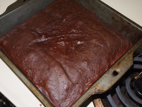 Vegan Chocolate Cake Finished Cooking