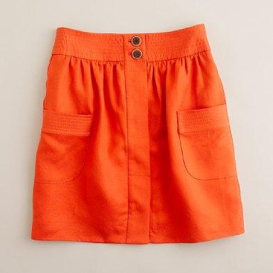 Linen skirt, J. Crew