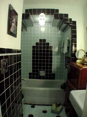 Art Nouveau and Art Deco Art deco bathroom designed by