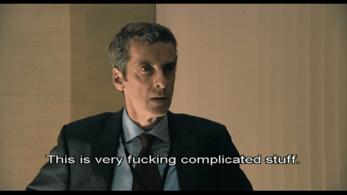 Image result for malcolm tucker gif we've fucking time travelled