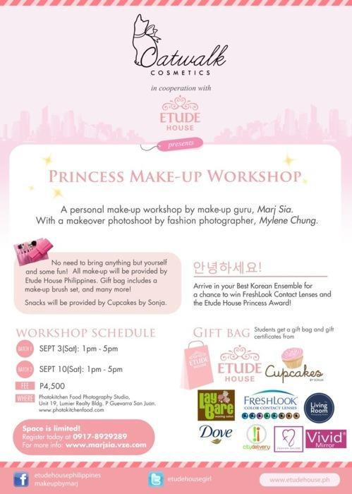 Catwalk Cosmetics x Etude House Makeup Workshop Details