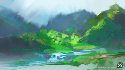 Image result for digital painting landscape