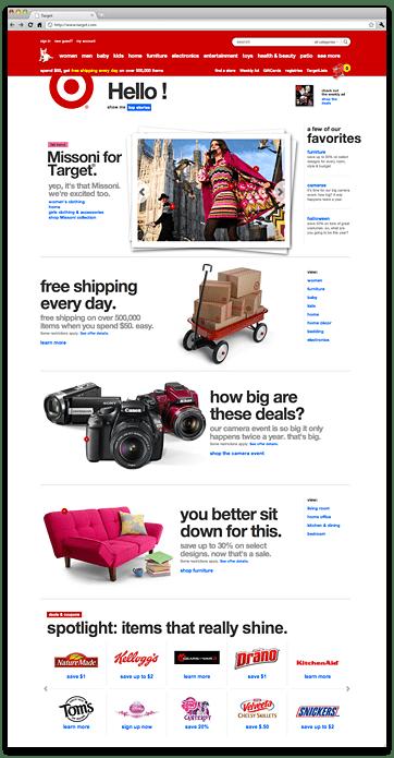 Target.com redesign
