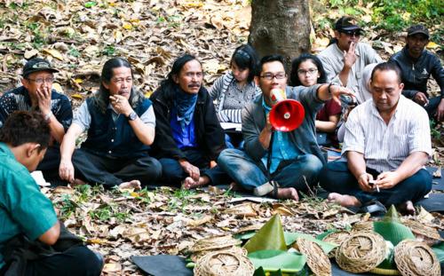 murag tumpeng pra peresmian hutan kota (dok. BCCF)