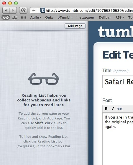 Safari Reading List