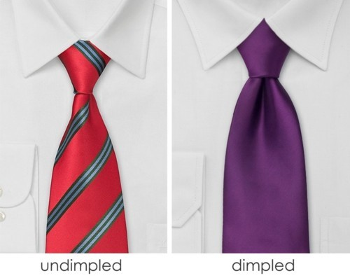 Image result for tie with dimple