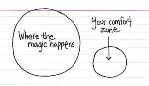 break out of your comfort zone to innovate