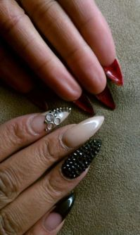 Nails on Pinterest | Coffin Nails, Stiletto Nails and Red ...