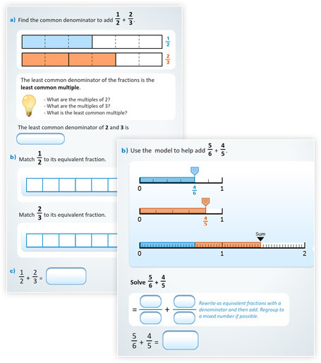 New buzzmath document adding fractions using models blog the interactive models in this document are great for engaging a whole class with a lesson on an interactive white board and also serve as great practice ccuart Gallery