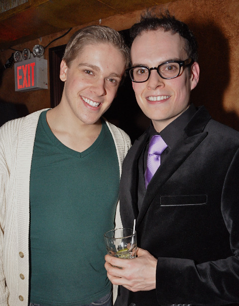 From Left:  Derek St. Pierre (Franz in Rock of Ages) & Jordan Grubb