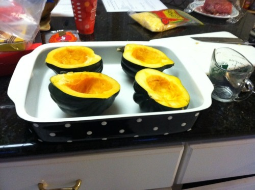 how to cook acorn squash at 350