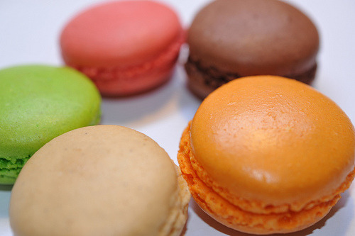 assorted macarons