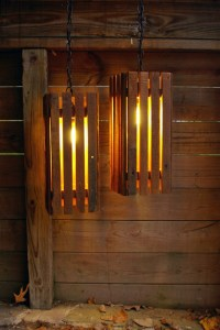 Upcycled Barn Wood Lamps
