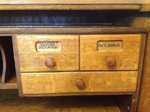 1917 Quarter Sawn Oak Roll Top Desk Score On Portland