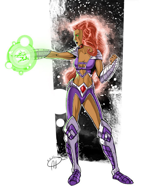 DC Women Kicking Ass  Contest takes on Starfire for