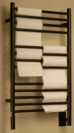 Example of an oil rubbed bronze towel warmer