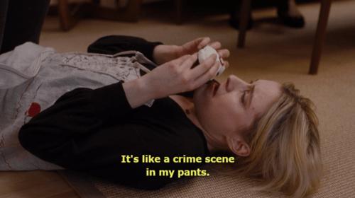 It's like a crime scene in my pants