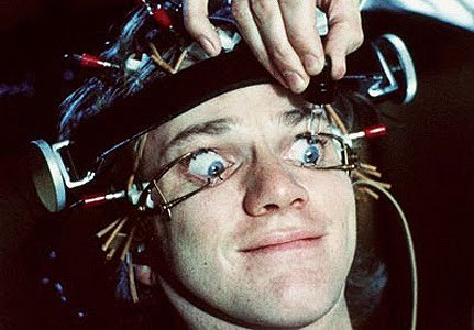 Image result for images of movie fan wired to eeg clockwork orange