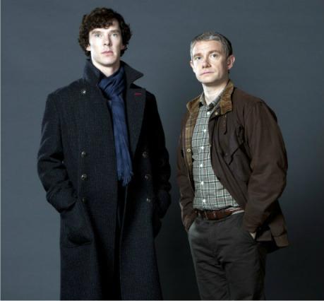 BBC Sherlock Striped Keyhole Scarf