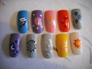 dinorawr - mlp nails
