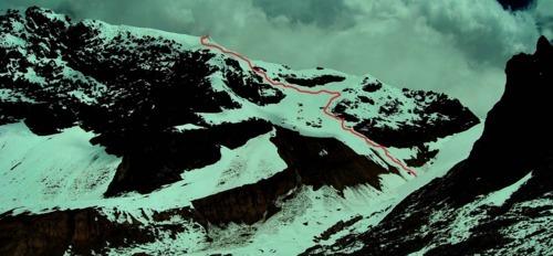 la ruta por la cara noroeste