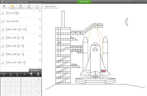 The Des-Blog • Blast-off with Desmos