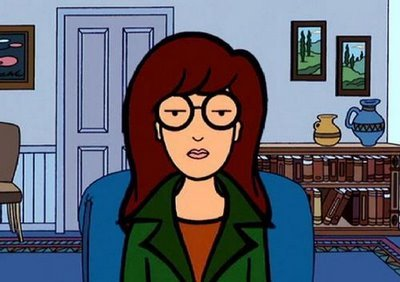 A picture of Daria Morgendorffer looking supremely displeased