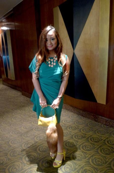 OOTD Aquamarine  Nicki Minaj Presscon  The Traveling Heels