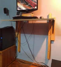 Cheap DIY adjustable standing desk
