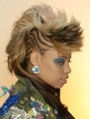 mohawk hairstyles black women;