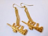 The Gold Gun Earrings