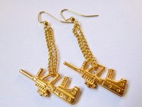 The Gold Gun Earrings
