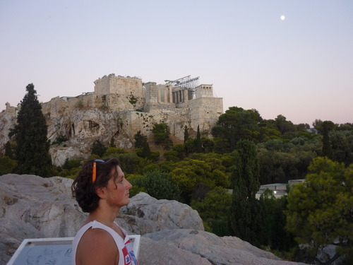 Joe Foley, Foreign Sojourn at the Acropolis, Dusk.