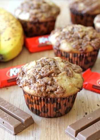 Banana Kit Kat Muffins