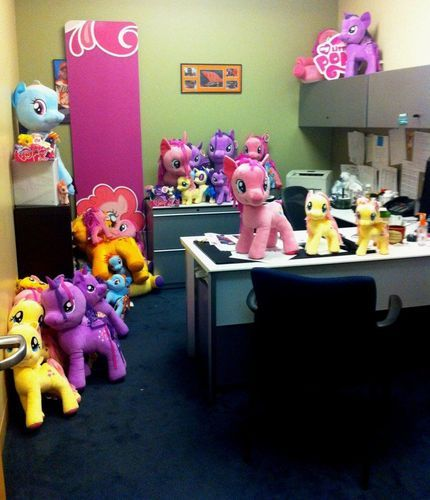 Office filled with plush ponies
