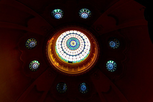 The Gellert's stained glass dome