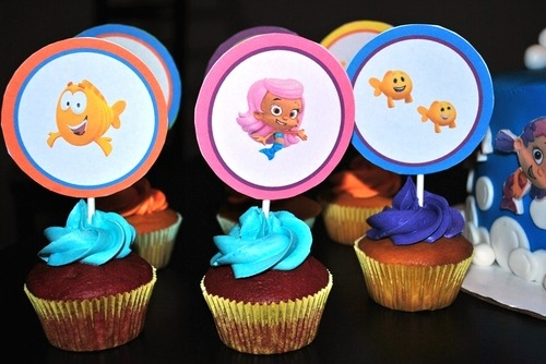 Bubble Guppies Birthday Cake Made Out Cupcakes