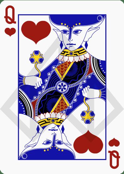 Zelda-Legend-Playing-Cards-by-Nelde-Queen-of-Hearts