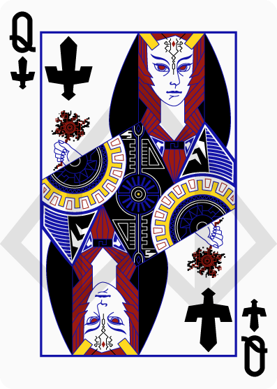 Zelda-Legend-Playing-Cards-by-Nelde-Queen-of-Spades