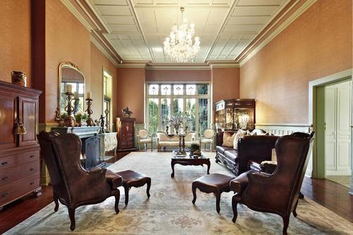 An Edwardian interior, beautiful leadlight glass.