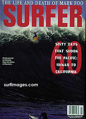 Jay Moriarty on the cover of Surfer Magazine