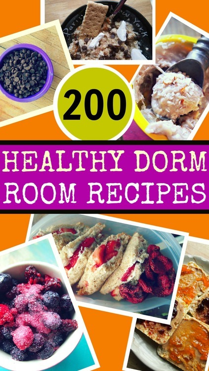 200 Healthy Dorm Room Recipes!  Simply Taralynn