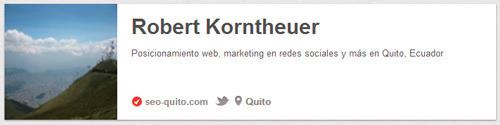 Pinterest: enlace a página web después de la verificación