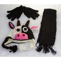 Animal hat - with matching gloves and scarf - Other Hats ...