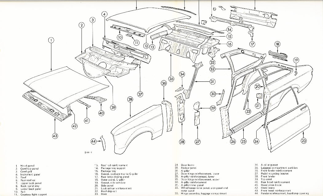 factory manual mkii escort panel diagram