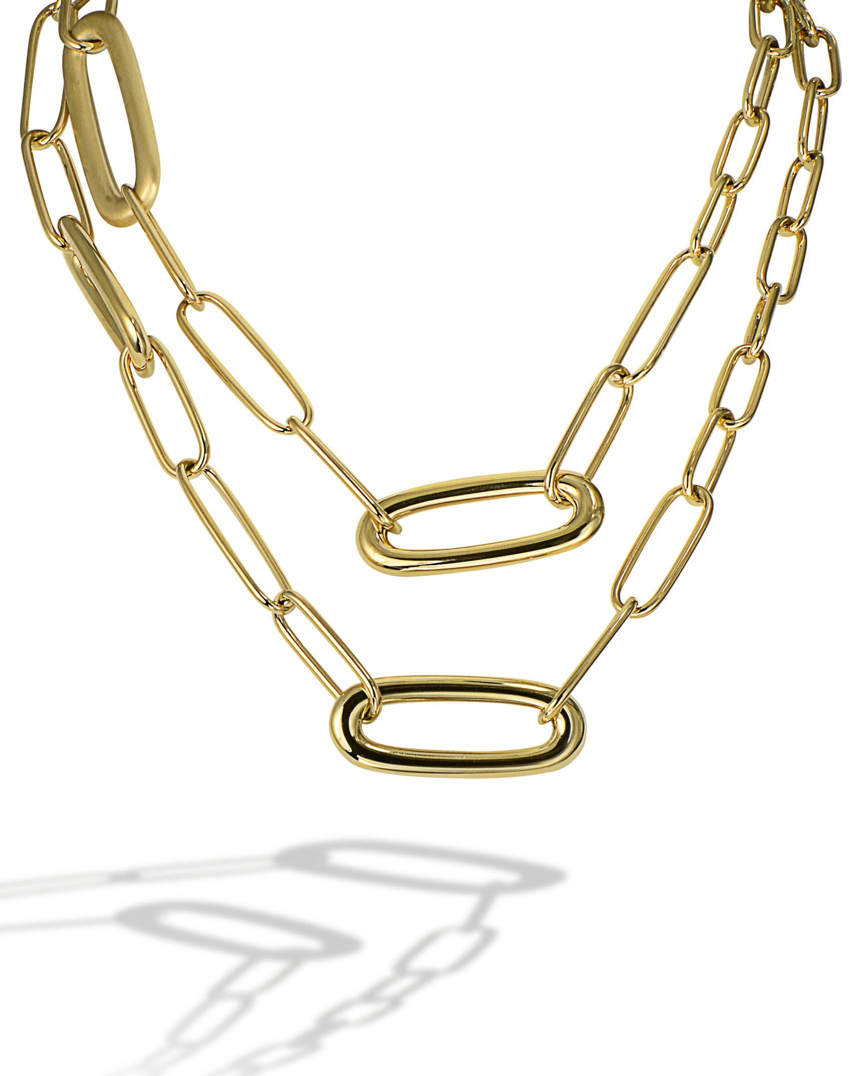 paperclip link necklace